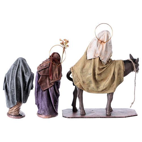 Statue Maria e Giuseppe in cerca di alloggio 14 cm stile Spagnolo 5
