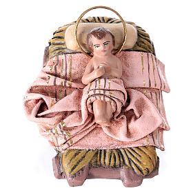 Scena natività presepe 14 cm 6 soggetti terracotta stile Spagnolo s3