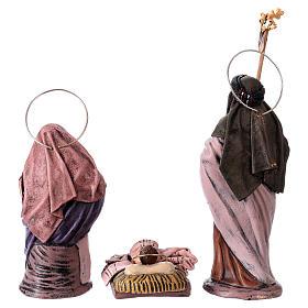 Scena natività presepe 14 cm 6 soggetti terracotta stile Spagnolo s7