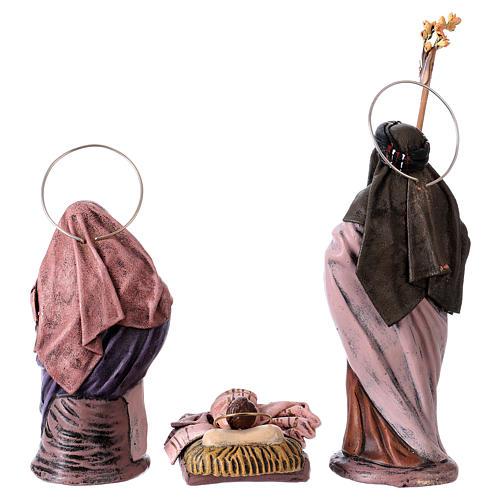 Scena natività presepe 14 cm 6 soggetti terracotta stile Spagnolo 7