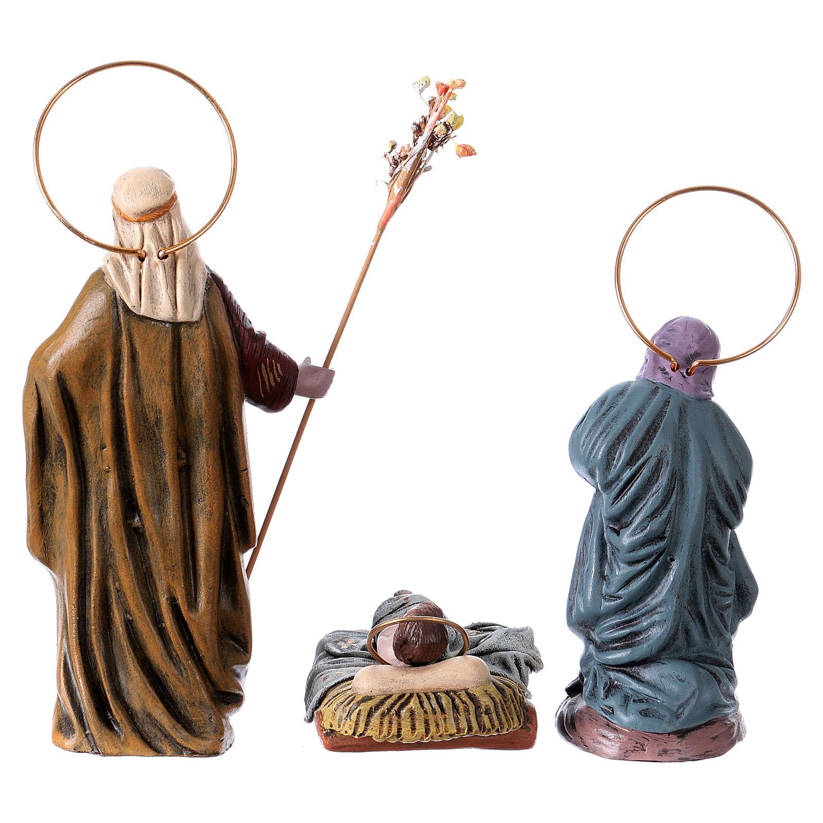Natività in terracotta 14 cm 6 soggetti stile Spagnolo 3
