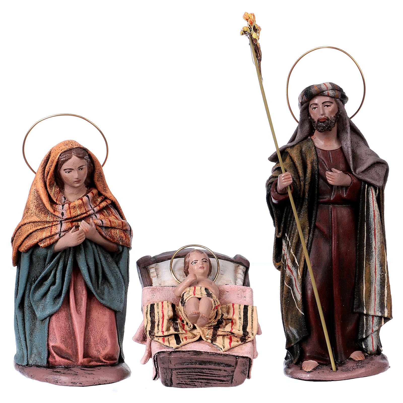 Natività 14 cm 6 soggetti in terracotta stile Spagnolo 3