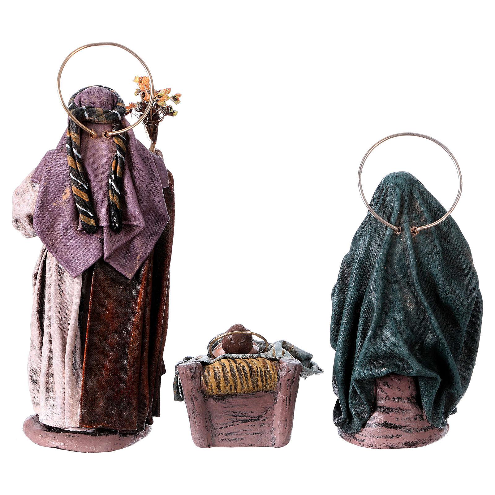Natività 6 soggetti 14 cm in terracotta stile Spagnolo 3