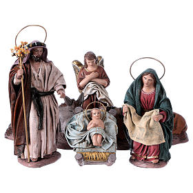 Natività 6 soggetti 14 cm in terracotta stile Spagnolo s1