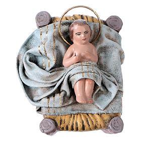 Natività 6 soggetti 14 cm in terracotta stile Spagnolo s3