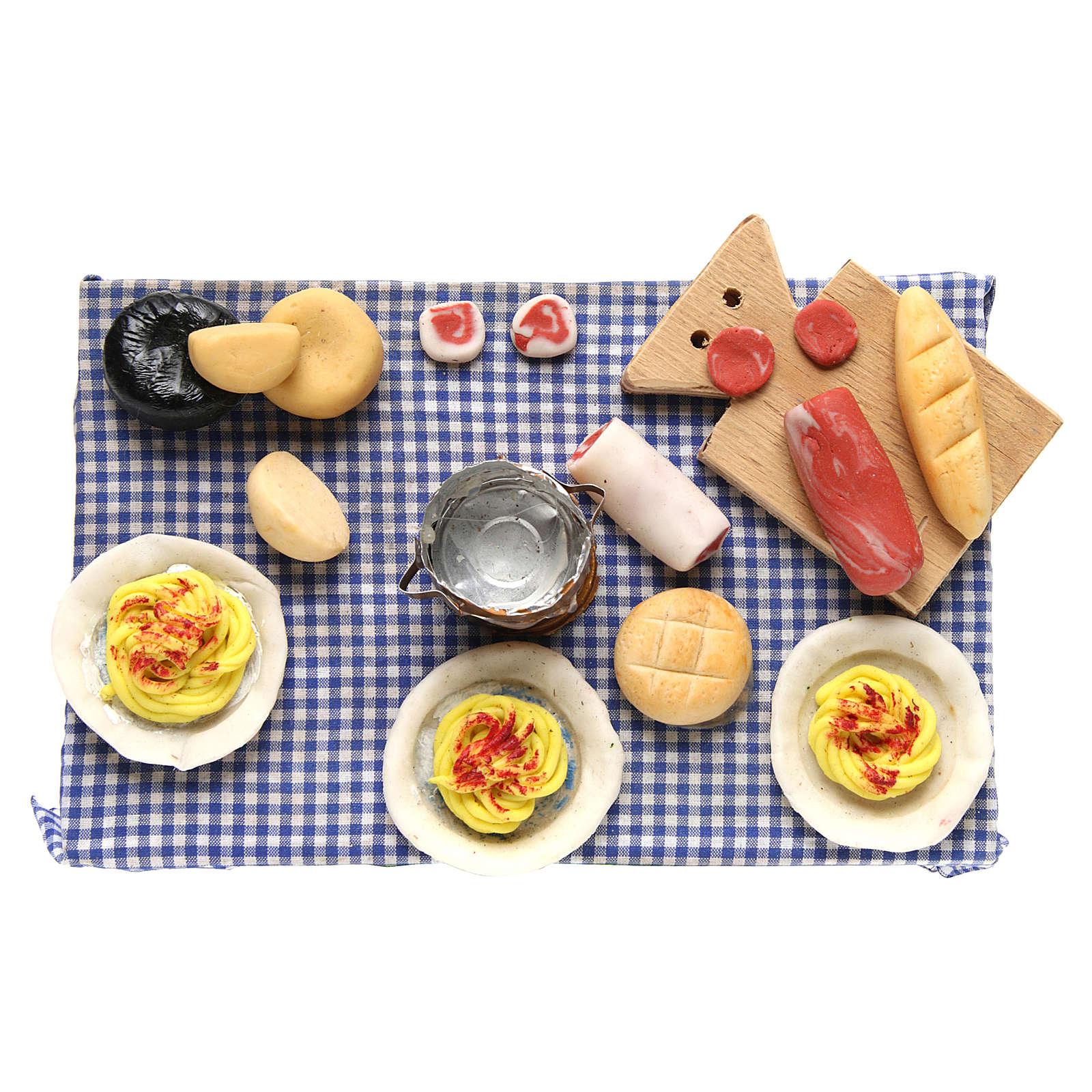 Mesa puesta para belén napolitano 24 cm 4
