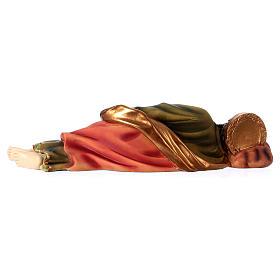 Krippenfigur schlafender Heiliger Josef, für 30 cm Krippe, aus Kunstharz s4