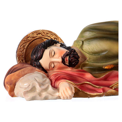 Krippenfigur schlafender Heiliger Josef, für 30 cm Krippe, aus Kunstharz 2