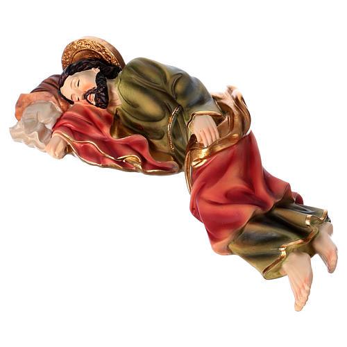 Krippenfigur schlafender Heiliger Josef, für 30 cm Krippe, aus Kunstharz 3
