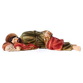 Santons crèche: Saint Joseph endormi 30 cm statue en résine