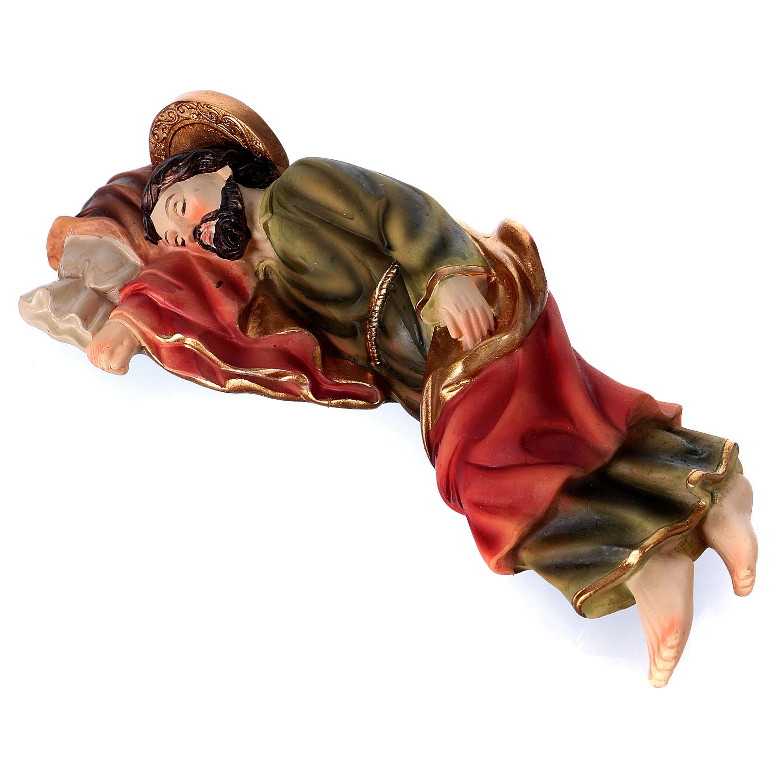 São José dormindo para presépio resina com figuras 20 cm altura média 3