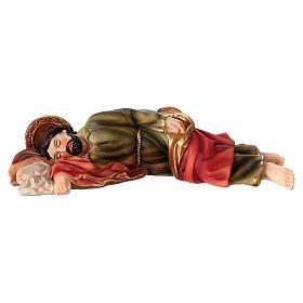São José dormindo para presépio resina com figuras 20 cm altura média s1