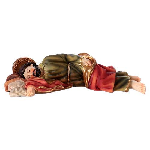 São José dormindo para presépio resina com figuras 20 cm altura média 1