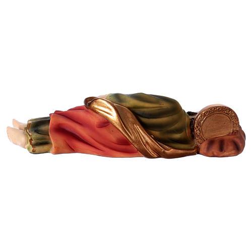 São José dormindo para presépio resina com figuras 20 cm altura média 4
