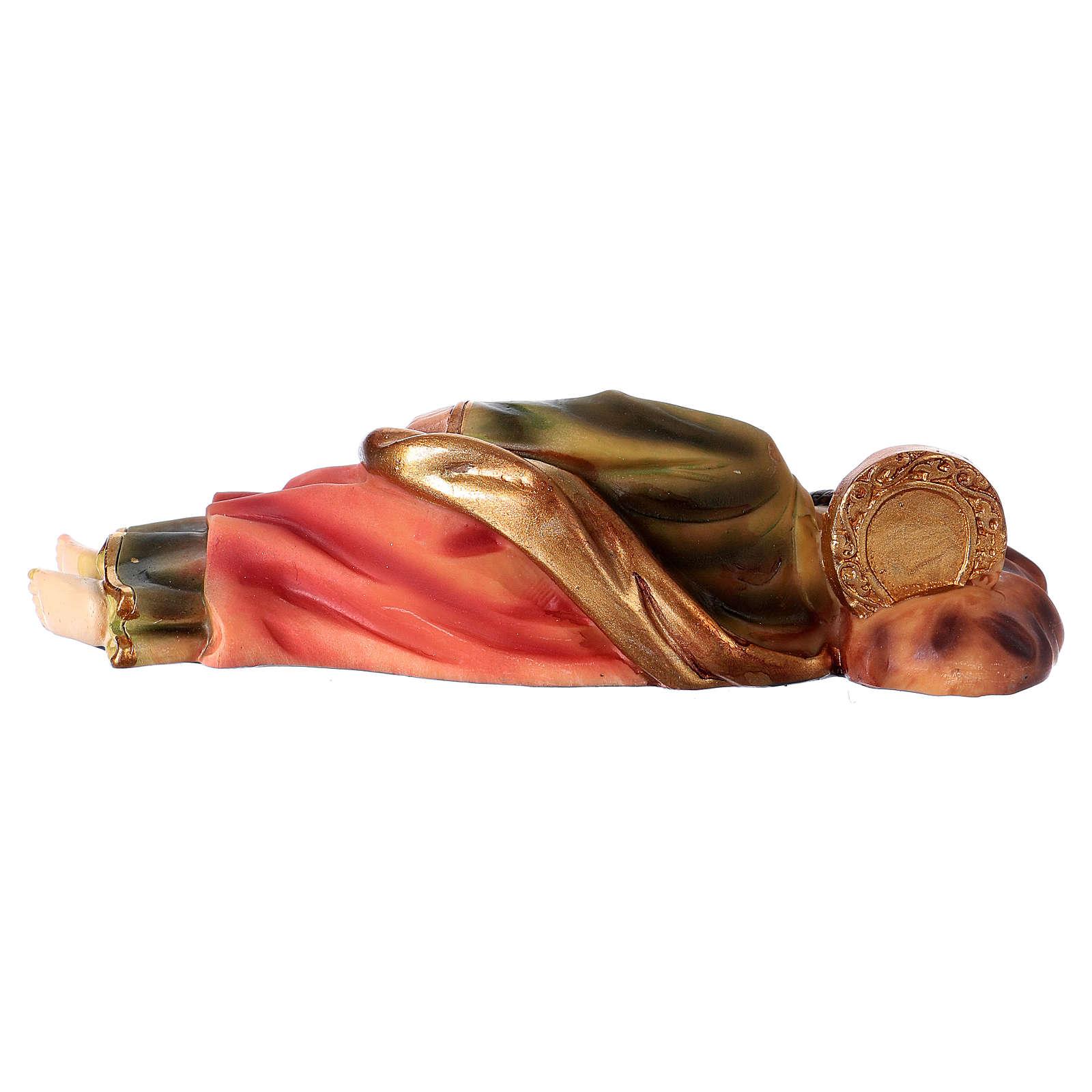 Sleeping St. Joseph in resin 12 cm 3