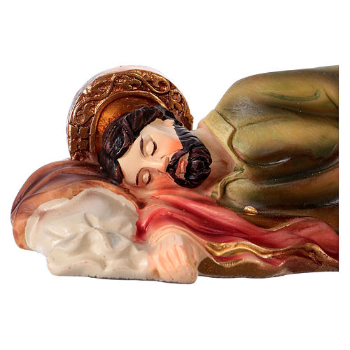 Sleeping St. Joseph in resin 12 cm 2