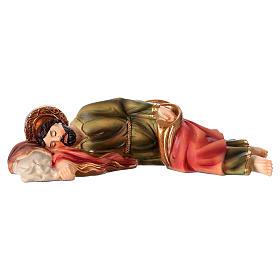 Figuras del Belén: Estatua de resina San José que duerme 12 cm