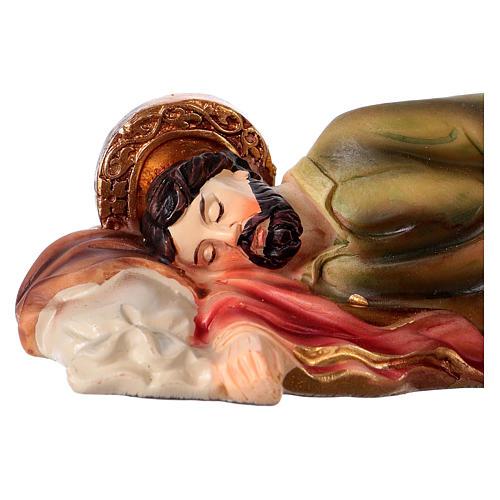Statue en résine Saint Joseph endormi 12 cm 2