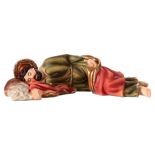 Sleeping St Joseph Statue, 12 cm in resin 1
