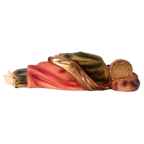 Sleeping St Joseph Statue, 12 cm in resin 4
