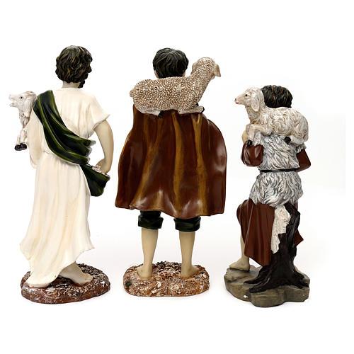 Pastori con pecora resina colorata 30 cm set 3 pz 5