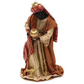Tres Reyes Magos estilo oriental resina coloreada 30 cm s3