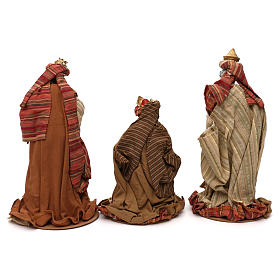 Tres Reyes Magos estilo oriental resina coloreada 30 cm s4