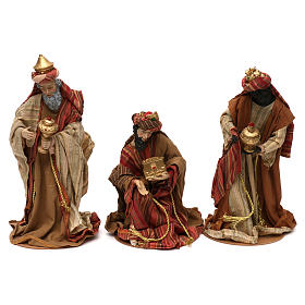Three Kings figurines oriental style, in colored resin 30 cm s1