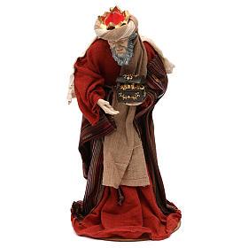 Tres Reyes Magos estilo oriental resina coloreada 42 cm s3