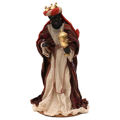 Tres Reyes Magos estilo oriental resina coloreada 42 cm 4