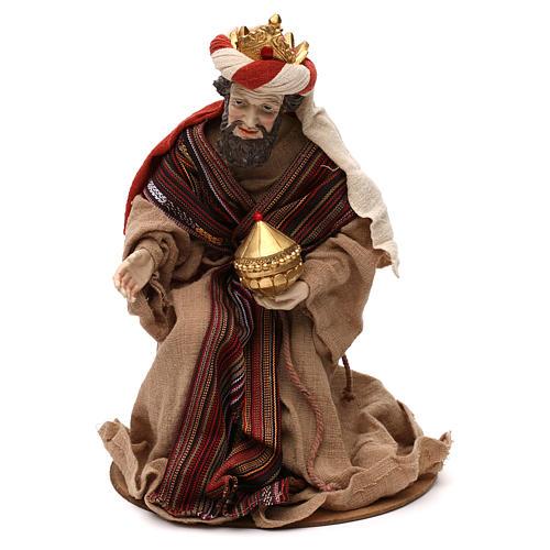 Trois Rois Mages style oriental résine colorée 42 cm 2