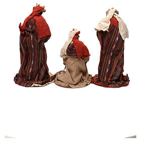 Three Wise Men figurines oriental style, in colored resin 42 cm s5