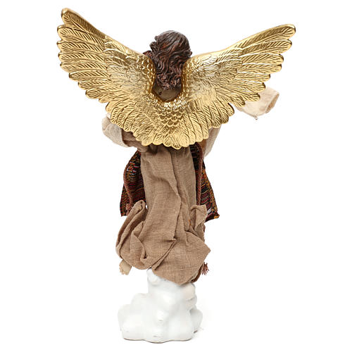 Nativity angel oriental style, in colored resin 42 cm 4