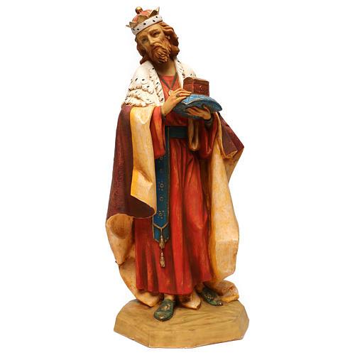 STOCK Rei Mago resina para Presépio Fontanini com figuras de altura média 65 cm 1