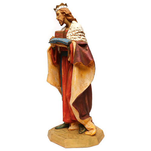 STOCK Rei Mago resina para Presépio Fontanini com figuras de altura média 65 cm 3