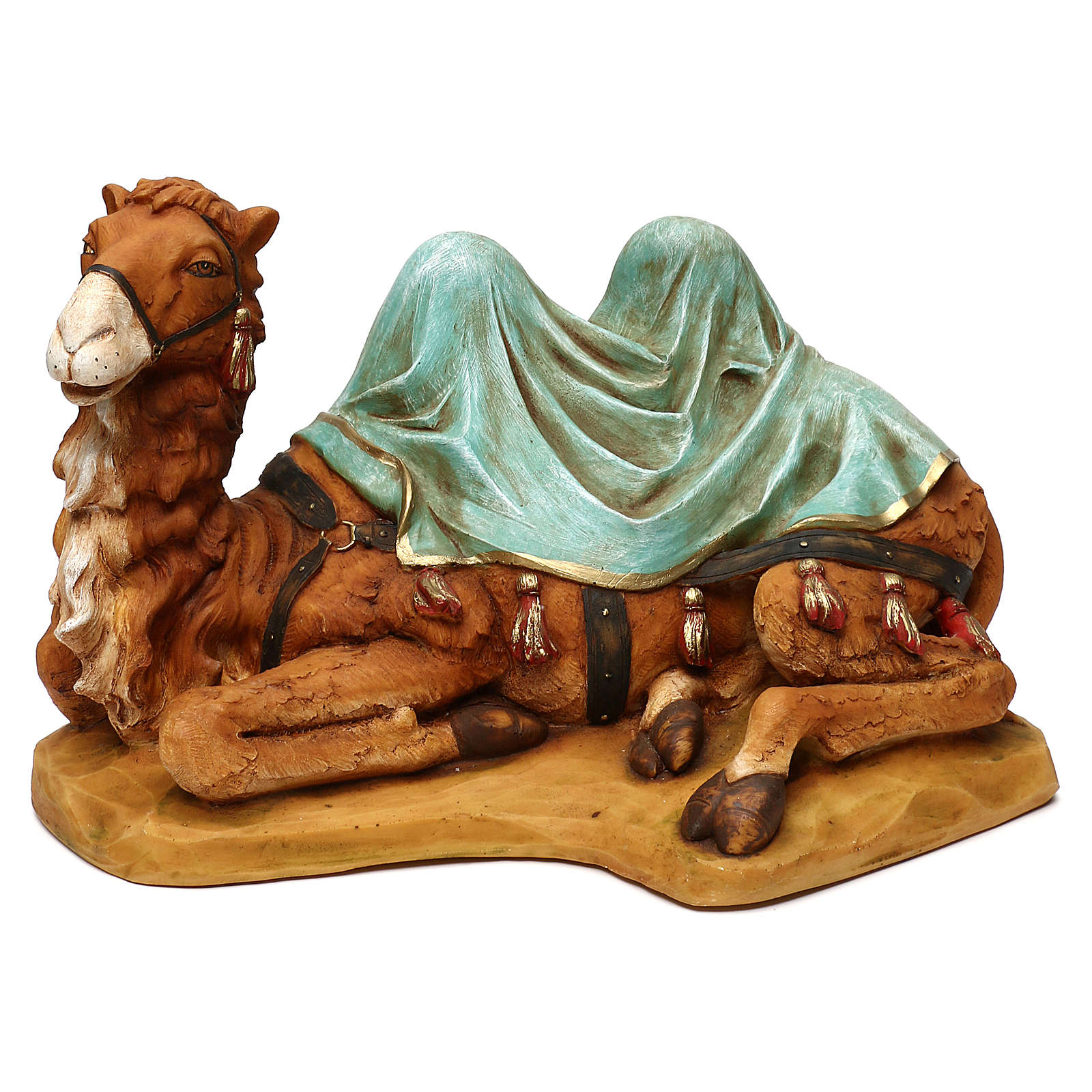 STOCK Cammello seduto per presepe 52 cm in resina Fontanini 4