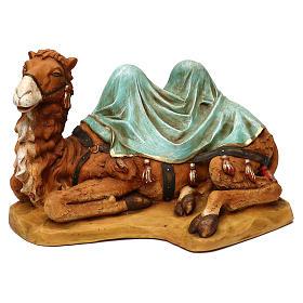 STOCK Cammello seduto per presepe 52 cm in resina Fontanini s1