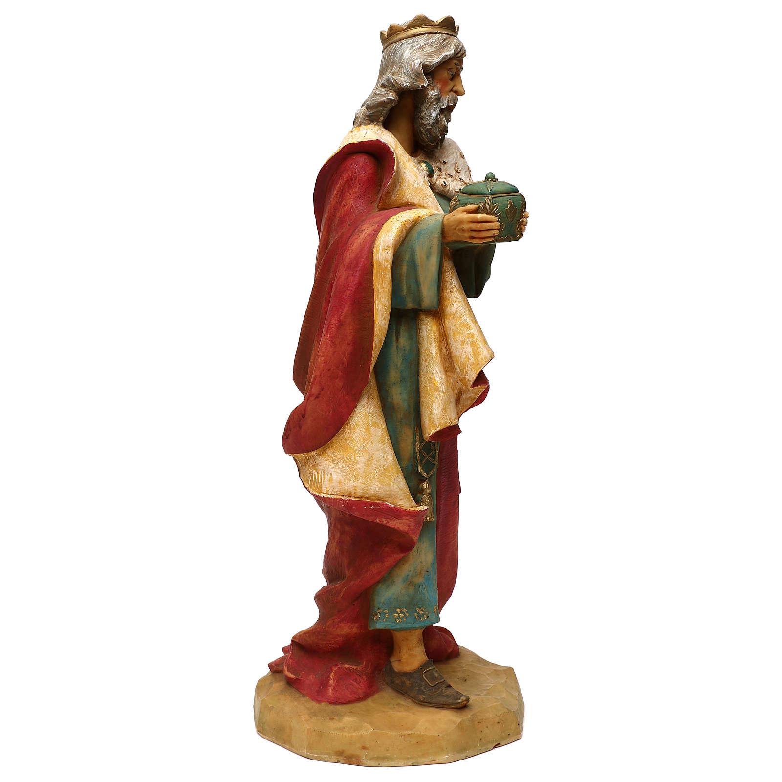 STOCK Rey Mago Melchor 52 cm belén Fontanini resina 4