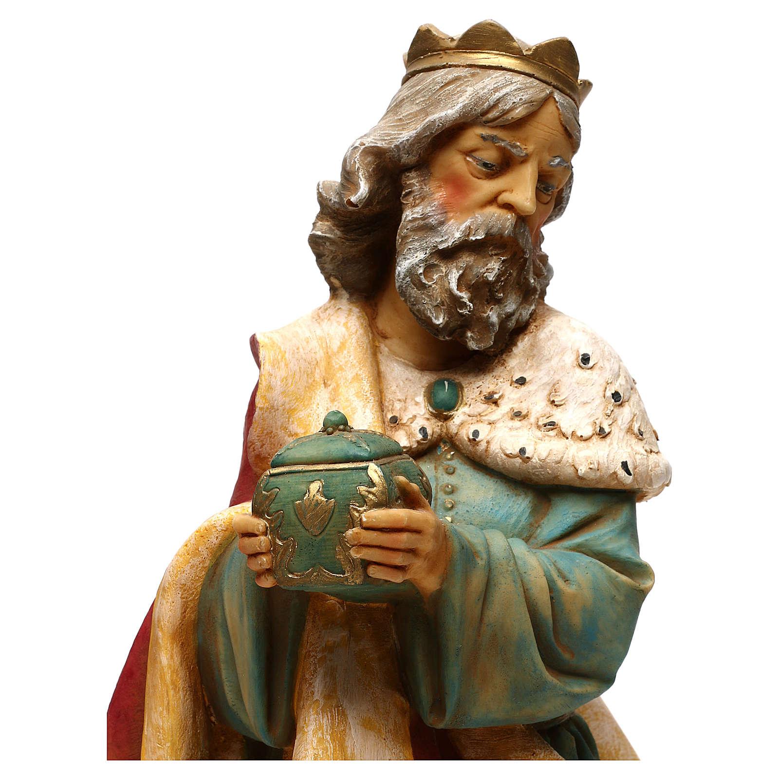 STOCK Rei Mago Melchior para Presépio Fontanini com figuras de altura média 52 cm 4