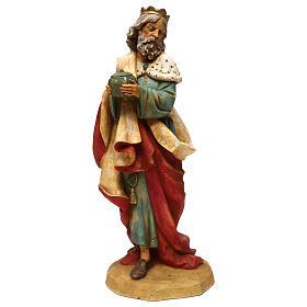 STOCK Rei Mago Melchior para Presépio Fontanini com figuras de altura média 52 cm s1