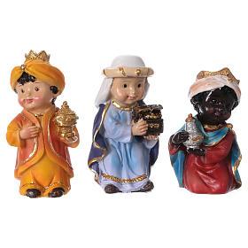 Estatuas Reyes Magos línea niño 9 cm s1