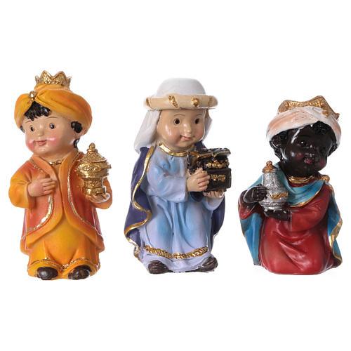 Estatuas Reyes Magos línea niño 9 cm 1