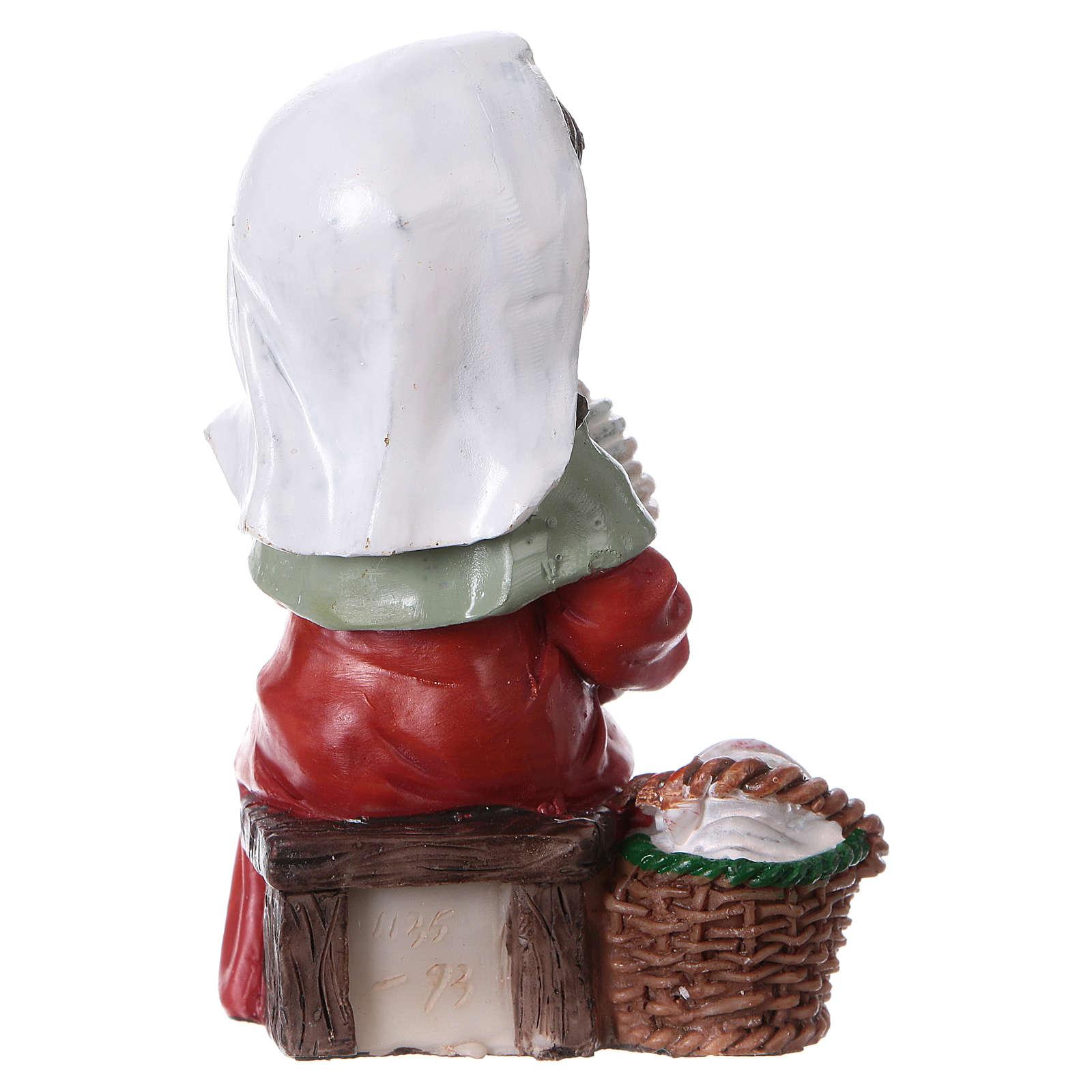 Santon fileuse de laine crèche gamme enfants 9 cm 3