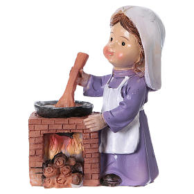 Estatua cocinera para belén línea niño de 9 cm s1