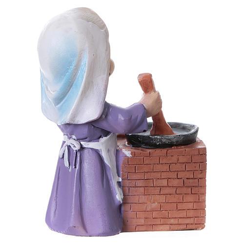 Estatua cocinera para belén línea niño de 9 cm 3