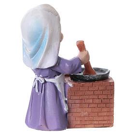 Statuina cuoca per presepe linea bambino di 9 cm s3