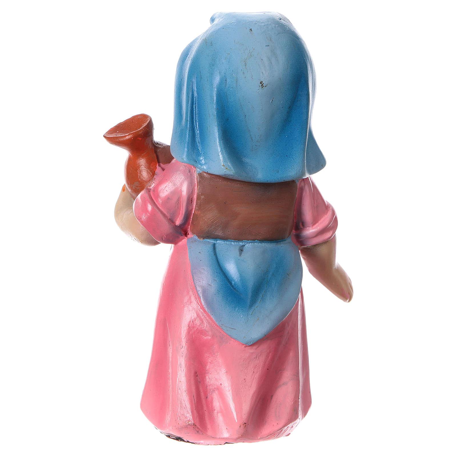 Estatua campesina con ánfora línea niño para belenes 9 cm 3
