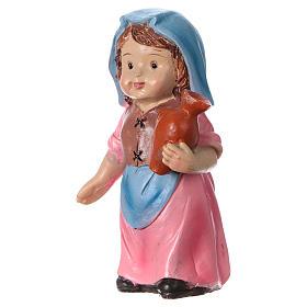 Estatua campesina con ánfora línea niño para belenes 9 cm s2