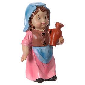 Estatua campesina con ánfora línea niño para belenes 9 cm s3