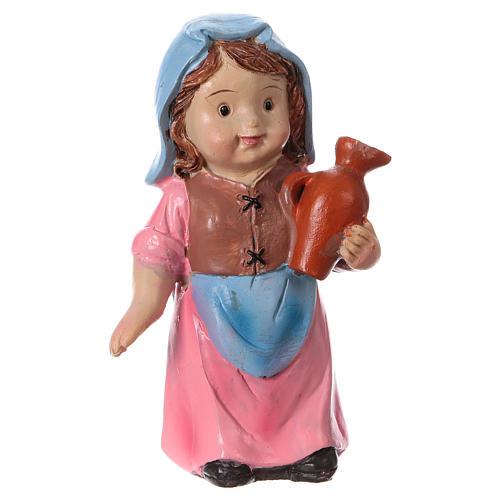Estatua campesina con ánfora línea niño para belenes 9 cm 1